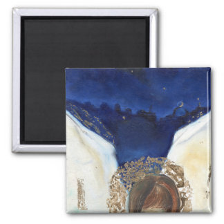 Night the angel got his wings 2014 2 inch square magnet