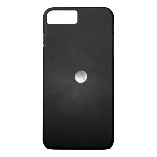 Night Themed, Black And White Full Moon Almost Fad iPhone 7 Plus Case