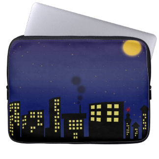 Night Time Cityscape Laptop Sleeves