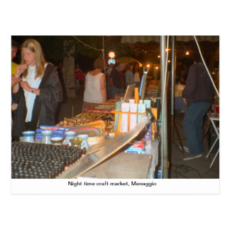 Night time craft market, Menaggio Postcard