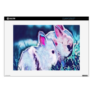 "Night Time Dwarf Bunnies 15"" Laptop Decal"