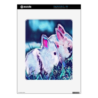 Night Time Dwarf Bunnies iPad Skin