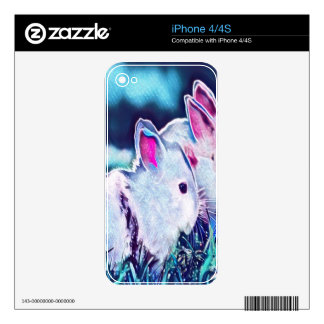 Night Time Dwarf Bunnies iPhone 4 Decal