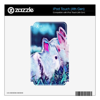 Night Time Dwarf Bunnies iPod Touch 4G Skin