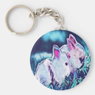 Night Time Dwarf Bunnies Keychain