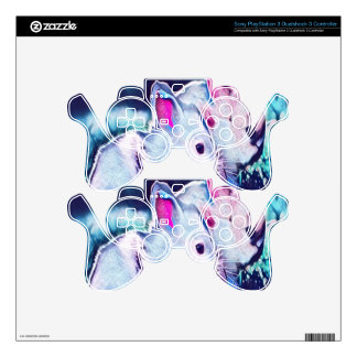 Night Time Dwarf Bunnies PS3 Controller Skin