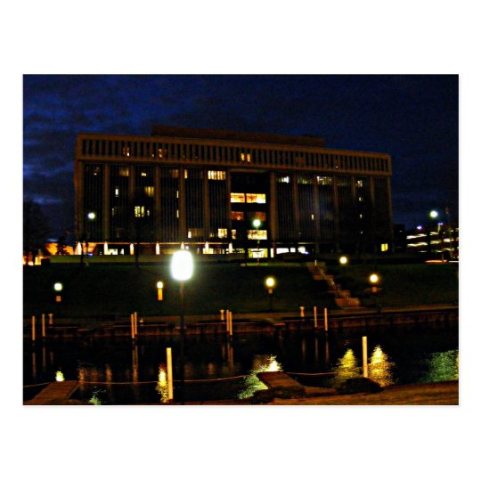 Night Time in Mount Clemens, MICHIGAN USA Postcard