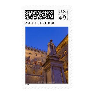 Night time in Piazza Salimbeni, Siena, Italy. 2 Stamp