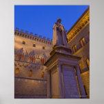 Night time in Piazza Salimbeni, Siena, Italy. 2 Poster
