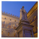 Night time in Piazza Salimbeni, Siena, Italy. 2 Large Square Tile