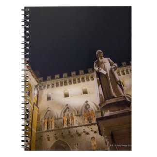 Night time in Piazza Salimbeni, Siena, Italy. Spiral Notebook