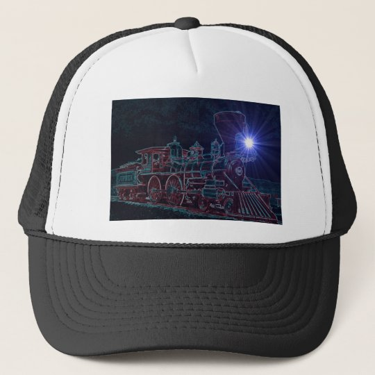 Night Time Locomotive Trucker Hat