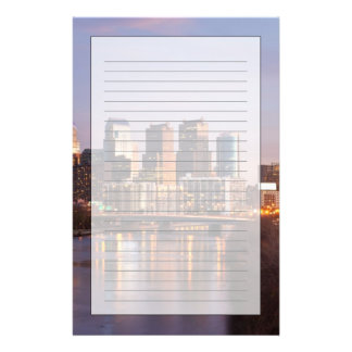 Night time panoramic view at Philadelphia Personalized Stationery