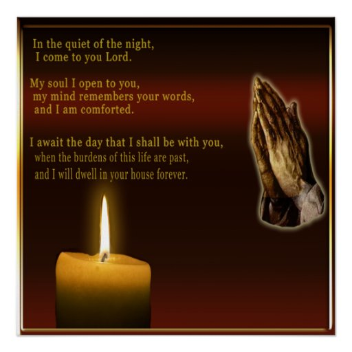 NIght time prayer poster
