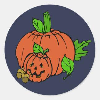 Night time pumpkin stickers