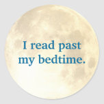 Night Time Reading Classic Round Sticker