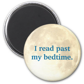 Night Time Reading 2 Inch Round Magnet