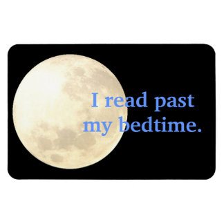 Night Time Reading Rectangle Magnet