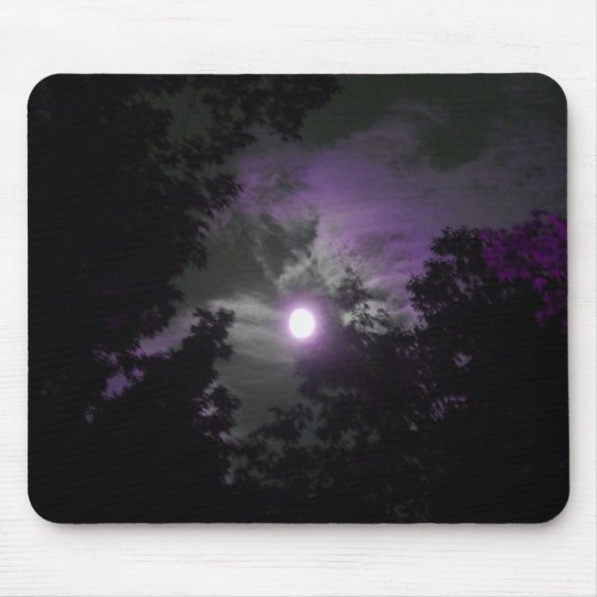 night time sky mouse pad