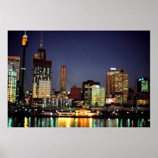 Night time, Sydney, Australia Poster