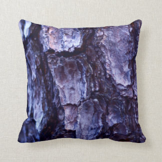 Night Time Tree Bark Photo Pillow