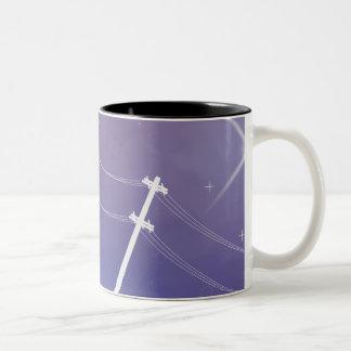 Night Time Two-Tone Coffee Mug