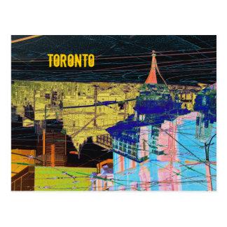 night toronto collage postcard