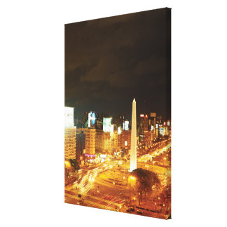 Night Traffic And Monument Canvas Print