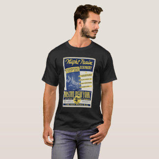 NIGHT TRAIN BOSTON-NEW YORK vintage picture. T-Shirt