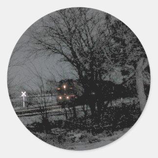 Night train classic round sticker