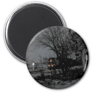 Night train fridge magnet