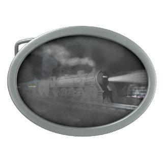 Night Train Oval Belt Buckle