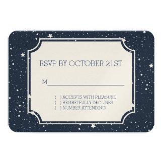 Night Under the Stars RSVP 3.5x5 Paper Invitation Card