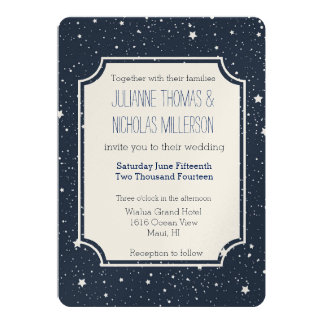 Night Under the Stars Wedding Card