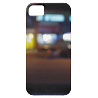 Night urban scene with blurred lights and the shop iPhone SE/5/5s case