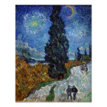 night - Van Gogh - Country road in Provence Print