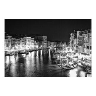 Night Venetian Cityscape - Photographic Print