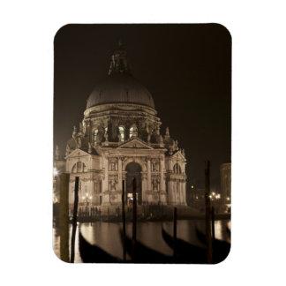 Night view across water of San Giorgio Maggiore Rectangular Photo Magnet