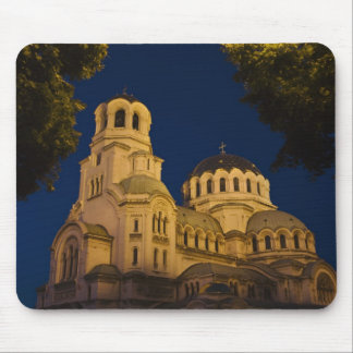 Night view of Alexander Nevski Cathedral Mousepads