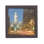 Night view of Benjamin Franklin parkway Gift Box