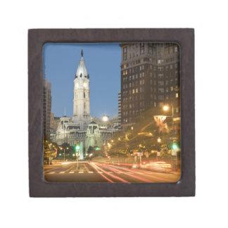 Night view of Benjamin Franklin parkway Gift Box