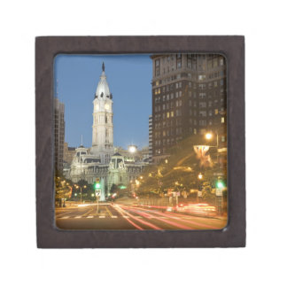 Night view of Benjamin Franklin parkway Premium Gift Boxes