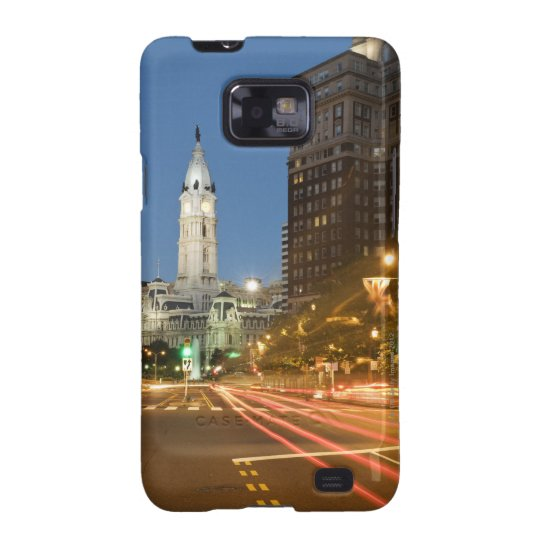 Night view of Benjamin Franklin parkway Samsung Galaxy S2 Case