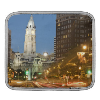 Night view of Benjamin Franklin parkway Sleeve For iPads