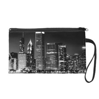 Night view of Chicago's famous cityscape Wristlets