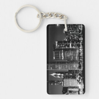 Night view of Chicago's famous cityscape Keychain