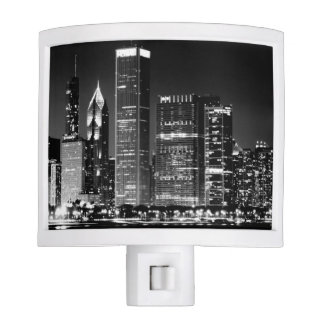 Night view of Chicago's famous cityscape Night Light
