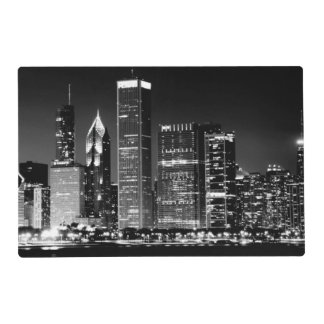 Night view of Chicago's famous cityscape Placemat
