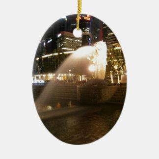 Night view of city ceramic ornament