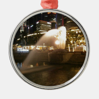 Night view of city metal ornament